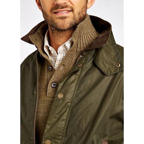Dubarry Mountbellew Men's Waxed Jacket - Olive