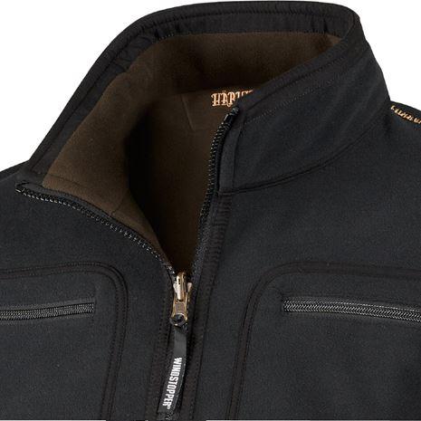 Harkila Kamko Reversible Fleece - Detail Pirate Black /Shadow Brown