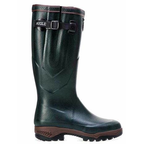 Aigle Parcours® 2 ISO Neoprene-Lined Wellington Boot - Bronze Green