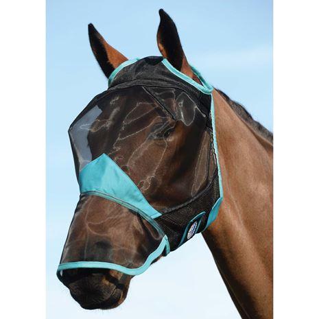 Weatherbeeta Comfitec Fine Mesh Mask-Nose - Black/Turquoise