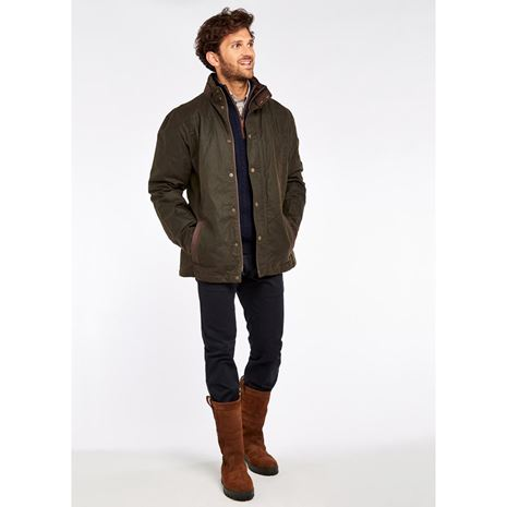 Dubarry Carrickfergus Men's Waxed Jacket - Olive