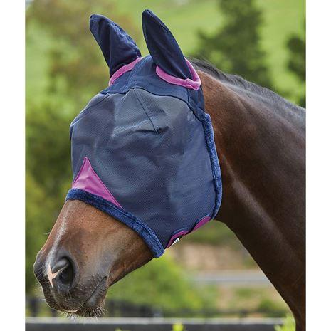 Weatherbeeta Comfitec Durable Mesh Masks - Ears cover - Navy/Purple