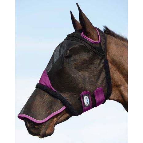 Weatherbeeta Comfitec Durable Mesh Masks - Nose cover - Black/Purple