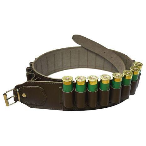 David Nickerson Cartridge Belt Brown Leather (24 Cartridges)