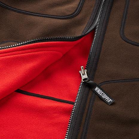 Harkila Kamko Reversible Fleece - Detail Brown /Red