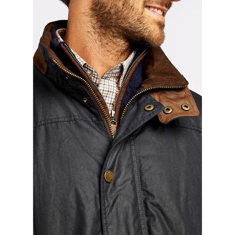 Dubarry Carrickfergus Men's Waxed Jacket - Navy