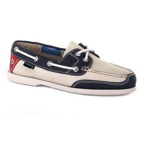 Chatham Marine Crest G2 Ladies Deck Shoe - White/Navy/Red