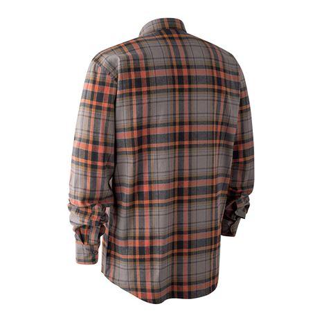 Deerhunter Marvin Shirt - Orange Check - Rear