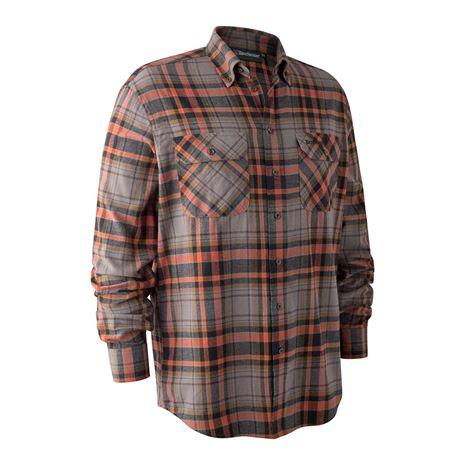Deerhunter Marvin Shirt - Orange Check
