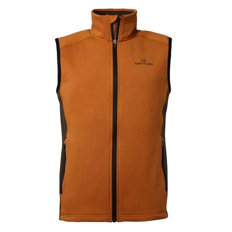 Chevalier Lenzie Fleece Vest - Orange/Brown