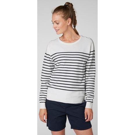 Helly Hansen Womens Skagen Sweater - Off White Stripe