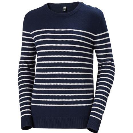 Helly Hansen Womens Skagen Sweater - Navy Stripe