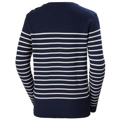 Helly Hansen Womens Skagen Sweater - Navy Stripe - Rear