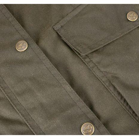 Hoggs of Fife Caledonia Ladies Wax Jacket - Antique Olive
