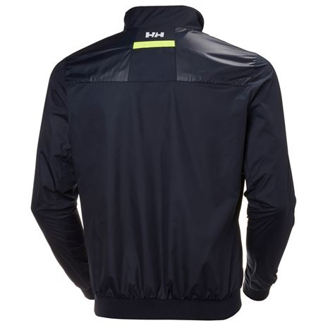 Helly Hansen Crew Windbreaker Jacket - Navy - Rear