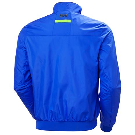 Helly Hansen Crew Windbreaker Jacket - Royal Blue - Rear