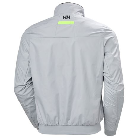 Helly Hansen Crew Windbreaker Jacket - Grey Fog - Rear