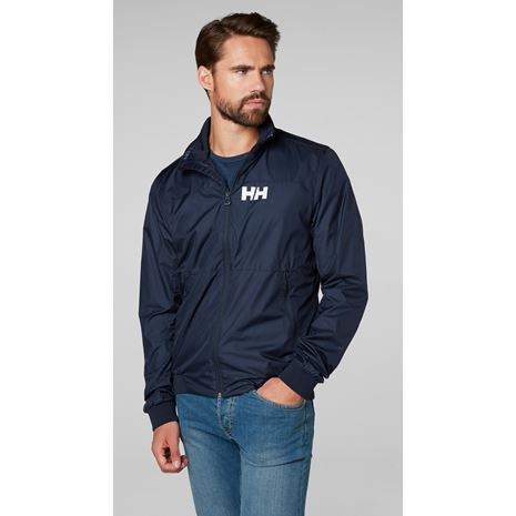 Helly Hansen Crew Windbreaker Jacket - Navy
