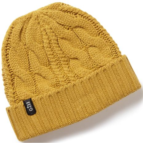 Gill Cable Knit Beanie - Ochre