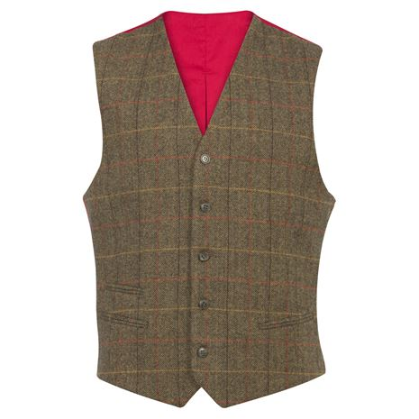 Alan Paine Combrook Gents Lined Back Waistcoat - Peat