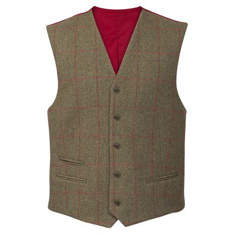 Alan Paine Combrook Gents Lined Back Waistcoat - Sage