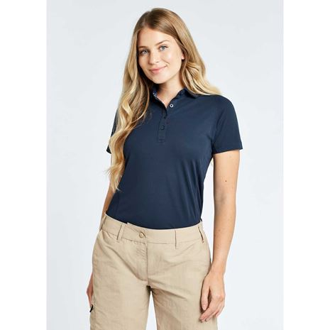 Dubarry Riviera Women's Technical Polo Shirt - Navy