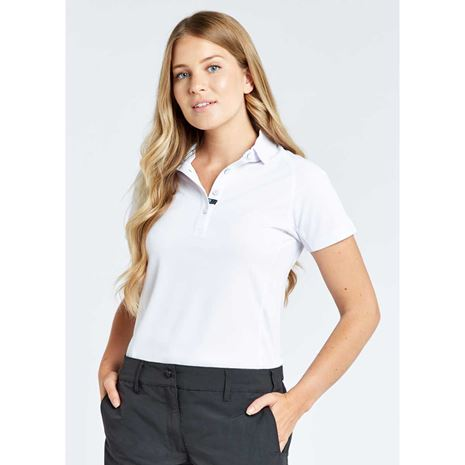 Dubarry Riviera Women's Technical Polo Shirt - White