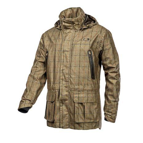 Baleno Moorland Men's Waterproof Jacket - Khaki Tweed Check