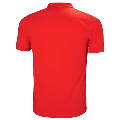 Helly Hansen Driftline Polo Shirt - Alert Red - Rear