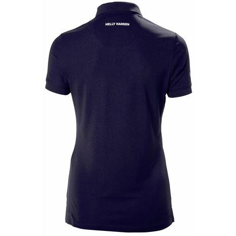 Helly Hansen Womens Crewline Polo Shirt - Navy - Rear