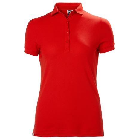 Helly Hansen Womens Crewline Polo Shirt - Flag Red