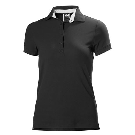 Helly Hansen Womens Crewline Polo Shirt - Ebony