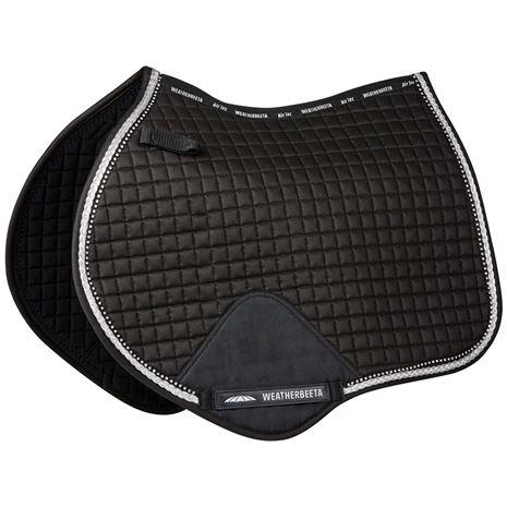 Weatherbeeta Prime Bling Saddle Pads - Jump - Black