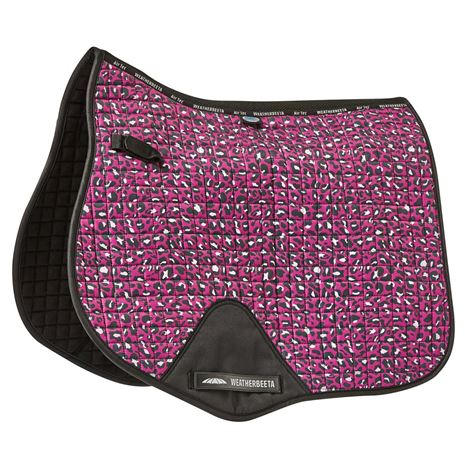 WeatherBeeta Prime Leopard All Purpose Saddle Pad  - Pink Leopard