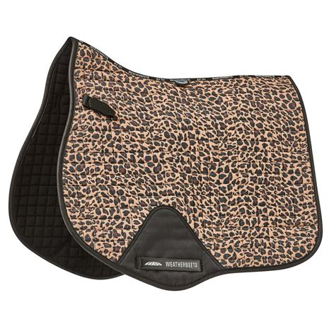WeatherBeeta Prime Leopard All Purpose Saddle Pad  - Brown Leopard