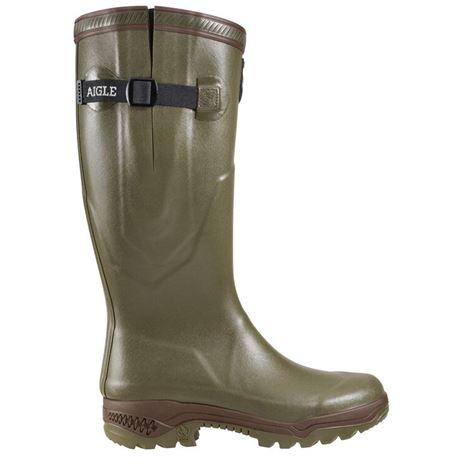 Aigle Parcours® 2 ISO Neoprene-Lined Wellington Boot - Khaki