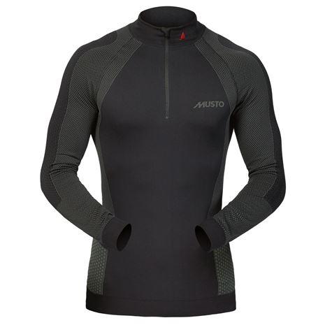 Musto Active Base Layer Zip Neck Top - Black