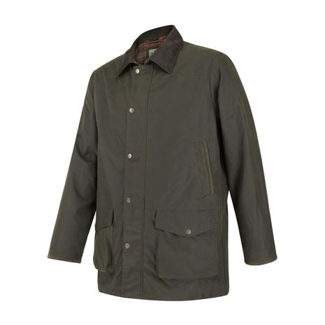 Hoggs of Fife Caledonia Men's Wax Jacket - Antique Olive