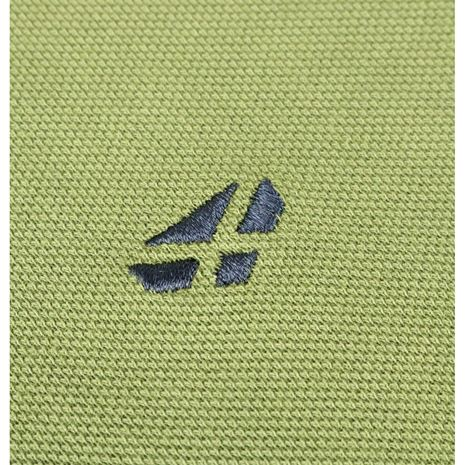 Hoggs of Fife Anstruther Washed Polo Shirt - Olive