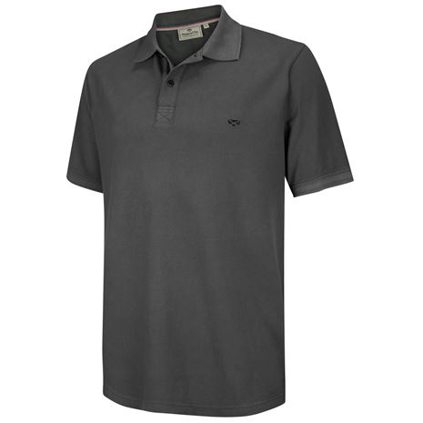 Hoggs of Fife Anstruther Washed Polo Shirt - Navy