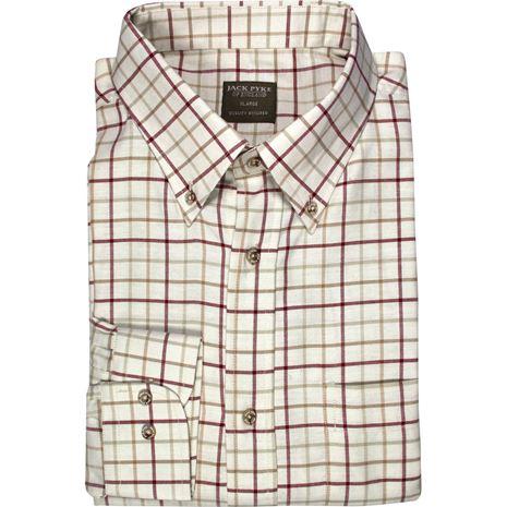 Jack Pyke Countryman Shirts - Burgundy Check