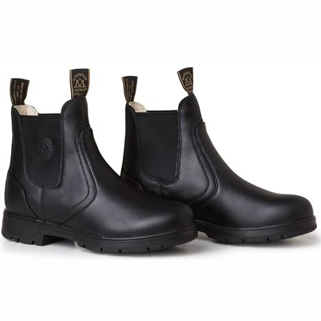 Mountain Horse Spring River Ladies Jodhpur Boots - Black - Front View