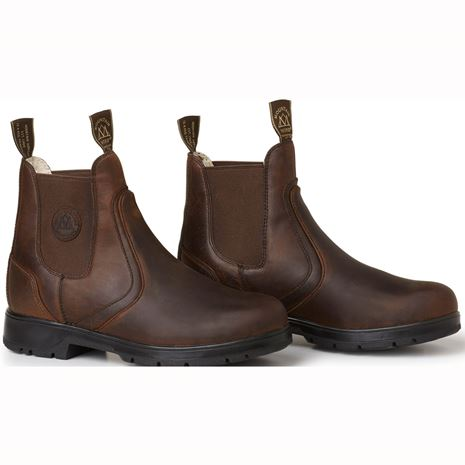 Mountain Horse Spring River Ladies Jodhpur Boots - Brown - Front View