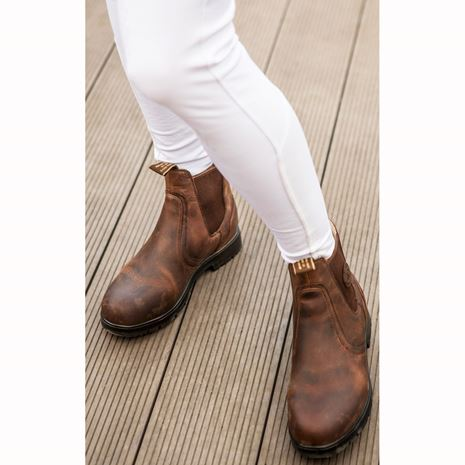 Mountain Horse Spring River Ladies Jodhpur Boots - Brown - Worn View