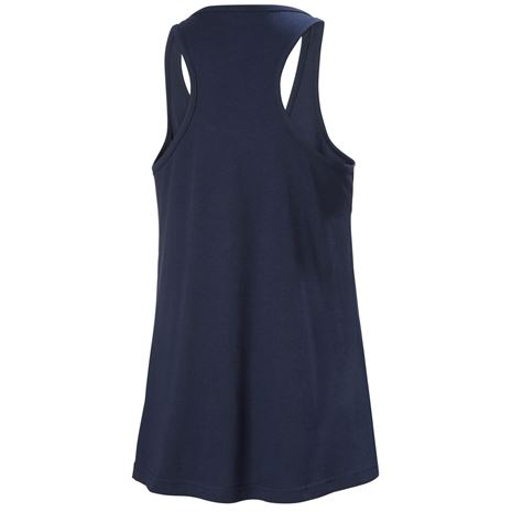 Helly Hansen Womens HH Logo Singlet - Navy - Rear