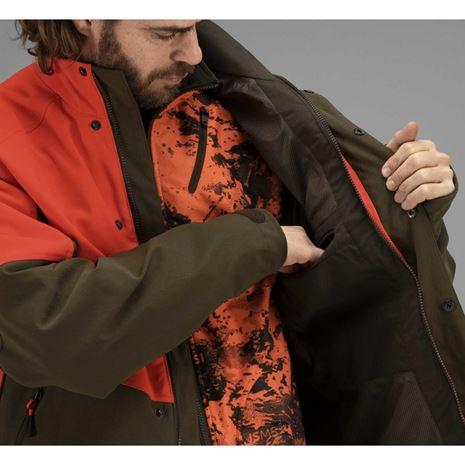 Harkila Wild Boar Pro Jacket - Orange Blaze/Willow Green