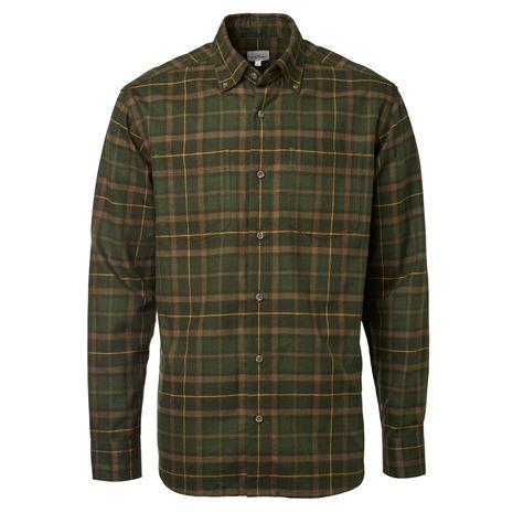 Chevalier Sarek Men's Shirt - Forest Green Checked