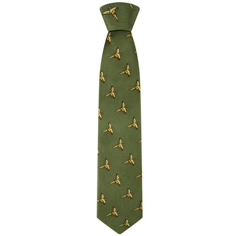 Hoggs of Fife Silk Country Tie - Green
