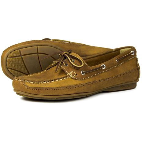 Orca Bay Bahamas Womens Deck Shoes in Sand.