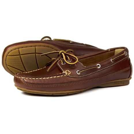 Orca Bay Bahamas Womens Deck Shoes in Saddle.